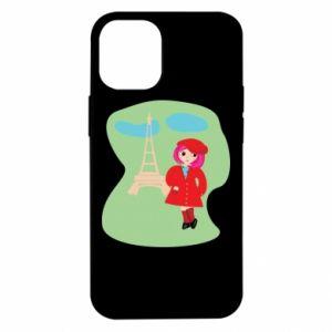 Etui na iPhone 12 Mini Dziewczyna w Paryżu