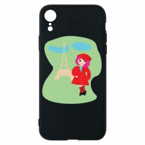 Phone case for iPhone XR Girl in Paris - PrintSalon