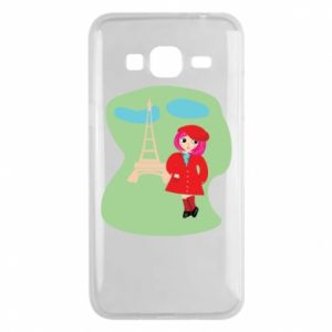 Phone case for Samsung J3 2016 Girl in Paris - PrintSalon