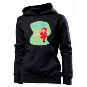 Women's hoodies Girl in Paris - PrintSalon