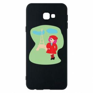 Phone case for Samsung J4 Plus 2018 Girl in Paris - PrintSalon