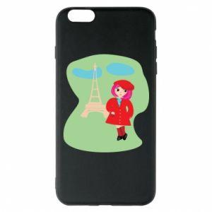 Phone case for iPhone 6 Plus/6S Plus Girl in Paris - PrintSalon