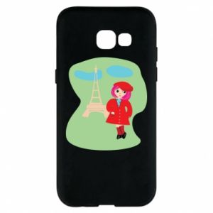 Phone case for Samsung A5 2017 Girl in Paris - PrintSalon
