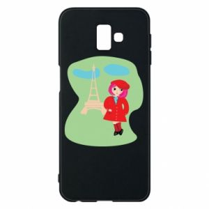 Phone case for Samsung J6 Plus 2018 Girl in Paris - PrintSalon