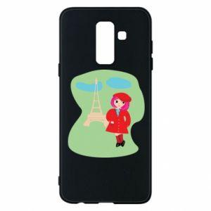 Phone case for Samsung A6+ 2018 Girl in Paris - PrintSalon