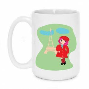 Mug 450ml Girl in Paris - PrintSalon