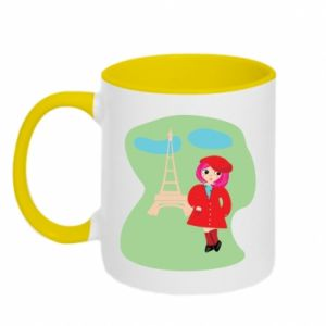 Two-toned mug Girl in Paris