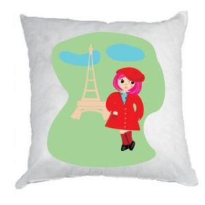 Poduszka Dziewczyna w Paryżu