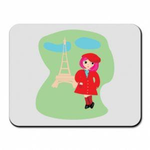 Mouse pad Girl in Paris - PrintSalon