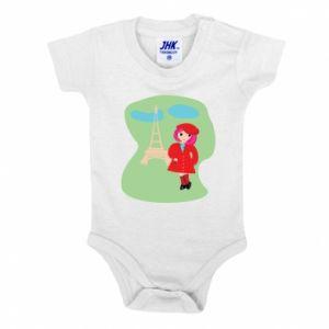 Baby bodysuit Girl in Paris - PrintSalon