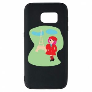 Phone case for Samsung S7 Girl in Paris - PrintSalon