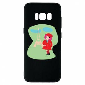 Phone case for Samsung S8 Girl in Paris - PrintSalon