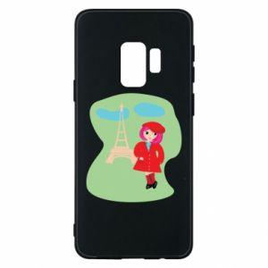 Phone case for Samsung S9 Girl in Paris - PrintSalon