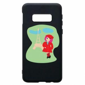 Phone case for Samsung S10e Girl in Paris - PrintSalon
