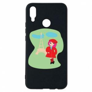 Phone case for Huawei P Smart Plus Girl in Paris - PrintSalon