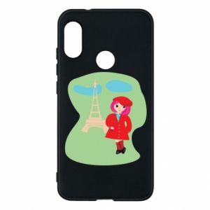 Phone case for Mi A2 Lite Girl in Paris - PrintSalon