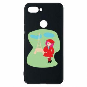 Phone case for Xiaomi Mi8 Lite Girl in Paris - PrintSalon