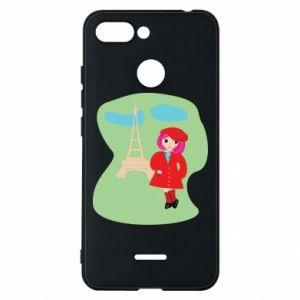 Phone case for Xiaomi Redmi 6 Girl in Paris - PrintSalon