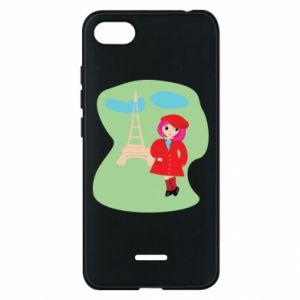 Phone case for Xiaomi Redmi 6A Girl in Paris - PrintSalon