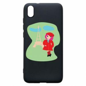 Phone case for Xiaomi Redmi 7A Girl in Paris - PrintSalon