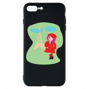 Phone case for iPhone 7 Plus Girl in Paris - PrintSalon