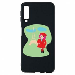 Phone case for Samsung A7 2018 Girl in Paris - PrintSalon