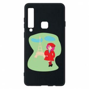 Phone case for Samsung A9 2018 Girl in Paris - PrintSalon