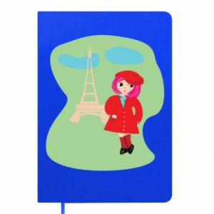 Notepad Girl in Paris