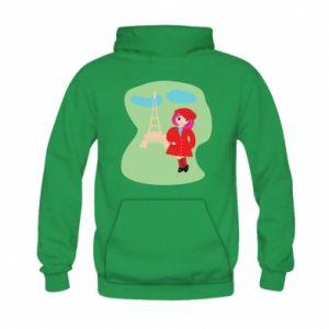 Bluza z kapturem dziecięca Dziewczyna w Paryżu
