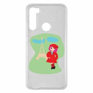 Etui na Xiaomi Redmi Note 8 Dziewczyna w Paryżu