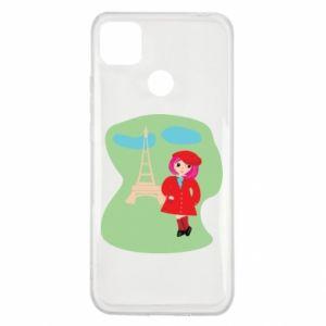 Etui na Xiaomi Redmi 9c Dziewczyna w Paryżu