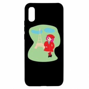 Etui na Xiaomi Redmi 9a Dziewczyna w Paryżu