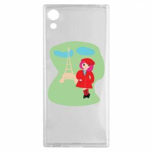 Etui na Sony Xperia XA1 Dziewczyna w Paryżu