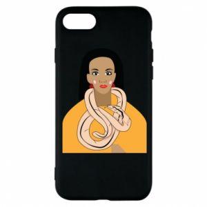 Etui na iPhone 8 Dziewczyna z wężem