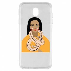 Etui na Samsung J7 2017 Dziewczyna z wężem