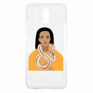 Etui na Nokia 2.3 Dziewczyna z wężem