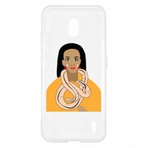 Etui na Nokia 2.2 Dziewczyna z wężem