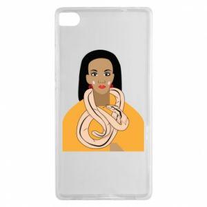 Etui na Huawei P8 Dziewczyna z wężem