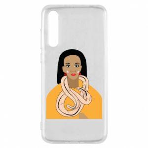 Etui na Huawei P20 Pro Dziewczyna z wężem