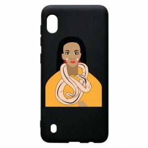 Etui na Samsung A10 Dziewczyna z wężem