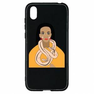 Etui na Huawei Y5 2019 Dziewczyna z wężem