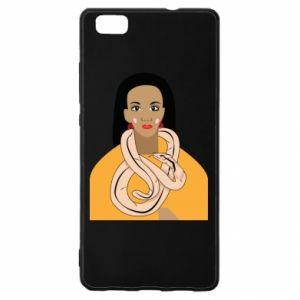 Etui na Huawei P 8 Lite Dziewczyna z wężem
