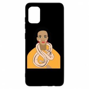 Etui na Samsung A31 Dziewczyna z wężem