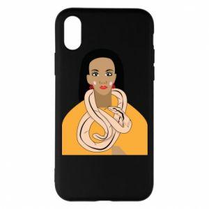 Etui na iPhone X/Xs Dziewczyna z wężem