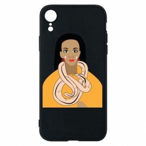 Etui na iPhone XR Dziewczyna z wężem
