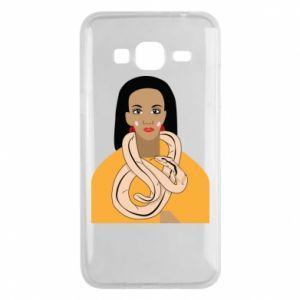 Etui na Samsung J3 2016 Dziewczyna z wężem