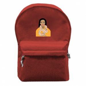 Plecak z przednią kieszenią Dziewczyna z wężem - PrintSalon