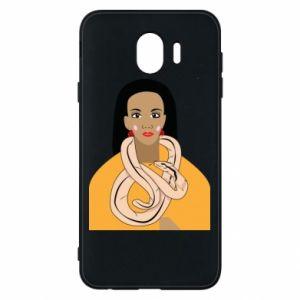 Etui na Samsung J4 Dziewczyna z wężem