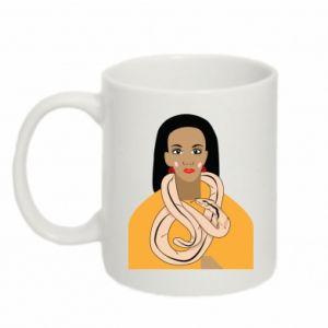 Mug 330ml Girl with a snake