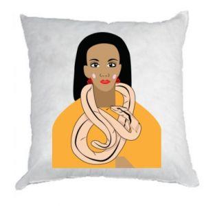 Poduszka Dziewczyna z wężem - PrintSalon